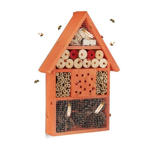 relaxdays Insektenhotel »Insektenhotel in 2 Farbvarianten«