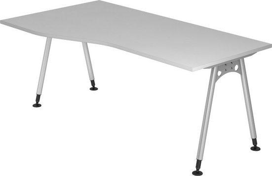 bümö Schreibtisch »OM-AS18«, Freiform: 180x100 cm höhenverstellbar bümö® Premium Qualität