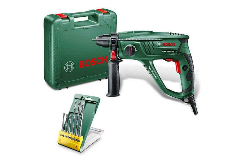 Bosch Powertools Bohrhammer »PBH 2100 RE«, 230 V, max. 2300 U/min, inkl. 6-tlg. Bohrer-Set