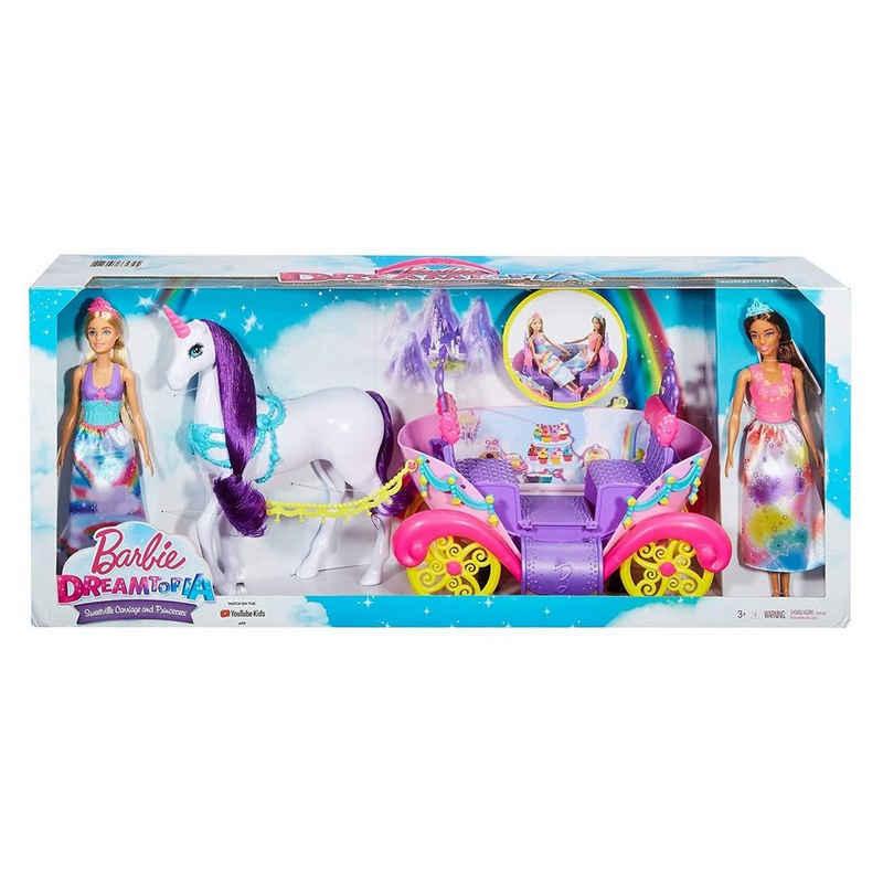 Mattel® Anziehpuppe »Mattel GNH04 - Barbie - Dreamtopia - Spielset, Kutsche, Einhorn und 2 Puppen«