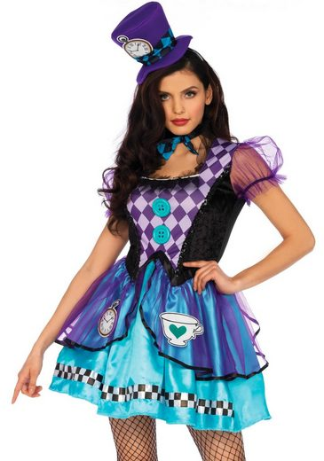24costumes Slip »Tea Time Hatter - Groesse: S/M - Farbe: Purple, Blue, White«