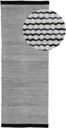 Läufer »Mona«, carpetfine, rechteckig, Höhe 5 mm, Wendeteppich aus Wolle/Baumwolle