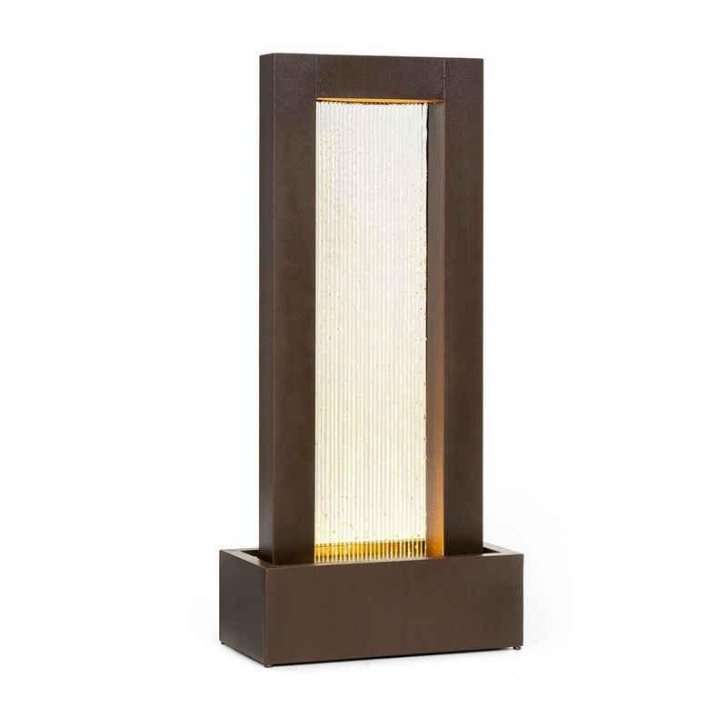 blumfeldt Wasserspiel »Skyriver Gartenbrunnen Zimmerbrunnen Indoor Outdoor LED Warmweiß 10 m Kabel verzinkt Bronze-Optik«, 50 cm Breite