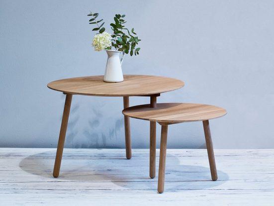 kommod Couchtisch »DRADE«, Beistelltisch, Holztisch, Designtisch – Eiche massiv natur