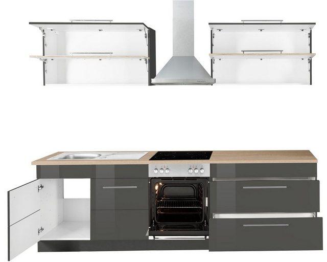 Einbauküchen - HELD MÖBEL Küchenzeile »Wien«, ohne E Geräte, Breite 260 cm  - Onlineshop OTTO