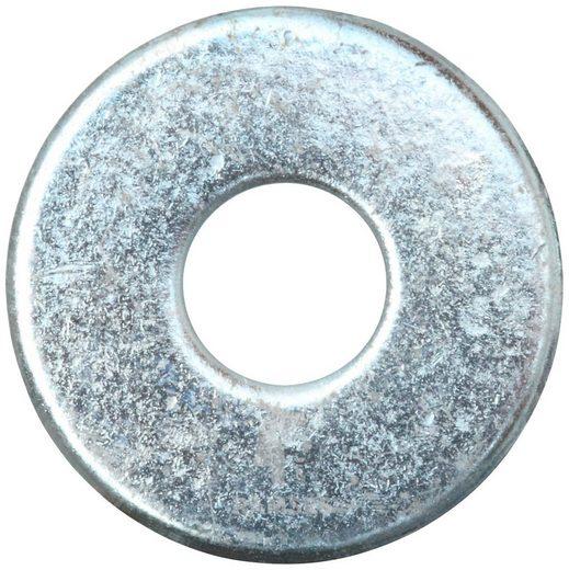 RAMSES Unterlegscheibe , DIN 9021 M8 Stahl verzinkt 100 Stück