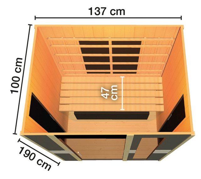 Saunen und Zubehör - weka Infrarotkabine »Viborg«, BxTxH 137 x 100 x 190 cm, 59 mm, 59 mm, für bis zu 2 Personen  - Onlineshop OTTO