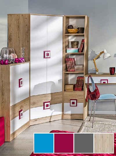 Feldmann-Wohnen Eckkleiderschrank »NICO« in Pink