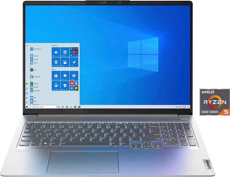 Lenovo IdeaPad 5 Pro Notebook (40,6 cm/16 Zoll, AMD Ryzen 5 5600H, Radeon Graphics, 512 GB SSD, Kostenloses Upgrade auf Windows 11, sobald verfügbar)
