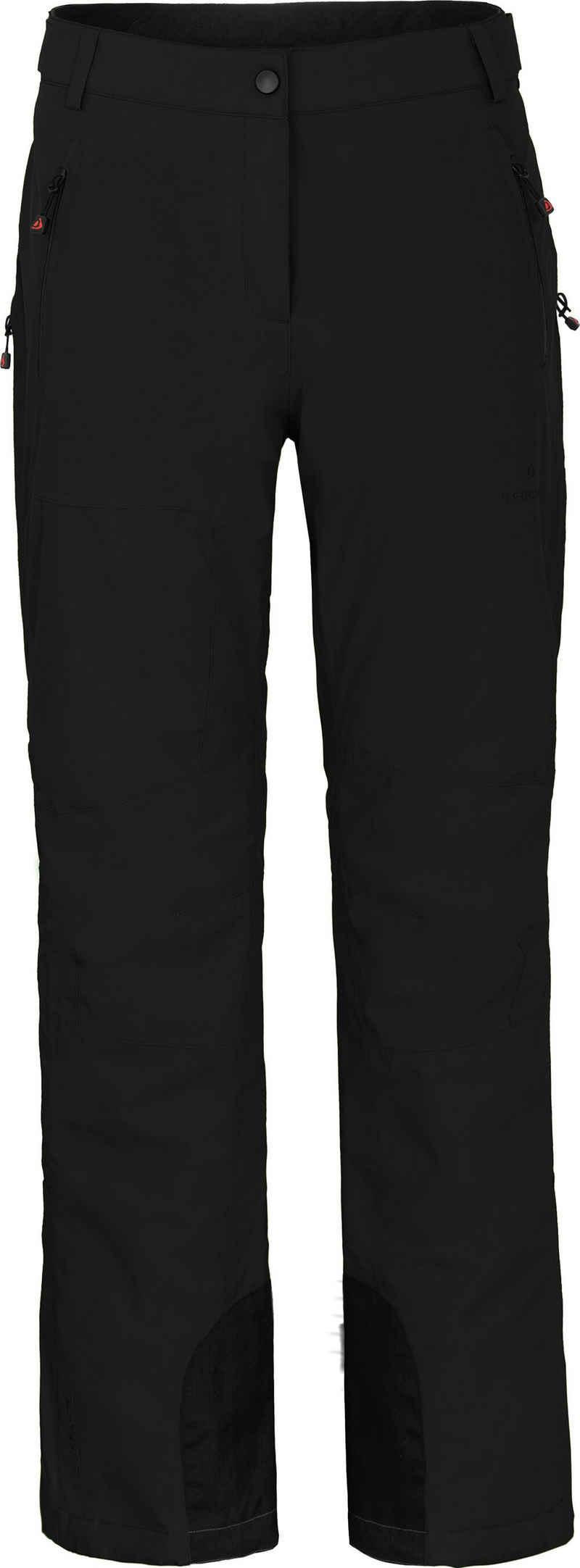 Bergson Skihose »ICE« Damen Skihose, wattiert, 20000 mm Wassersäule, Kurzgrößen, schwarz