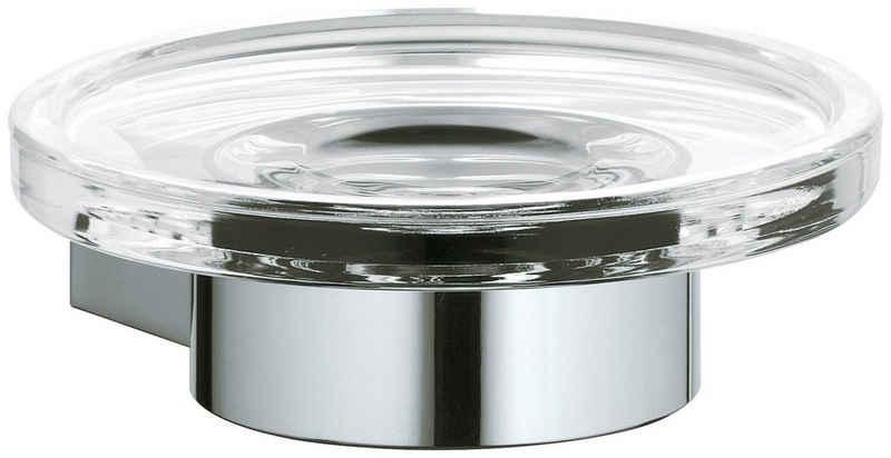 Keuco Seifenhalter »Plan«, Ø 11 cm, 2-St., verchromt, Echtkristall-Schale