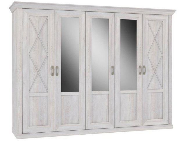 Schlafzimmer Sets - expendio Schlafzimmer Set »Kasimir 73«, (Spar Set, 4 tlg), Pinie weiss 180x200 cm im Landhausstil  - Onlineshop OTTO