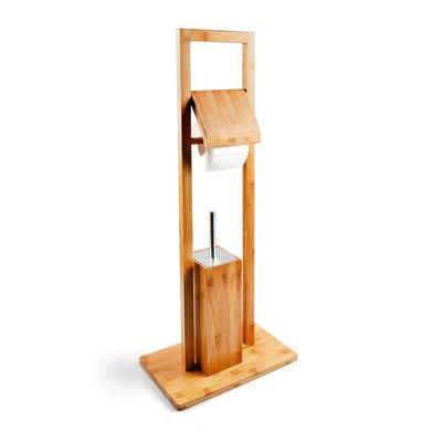 relaxdays Toilettenpapierhalter »WC Garnitur Bambus«