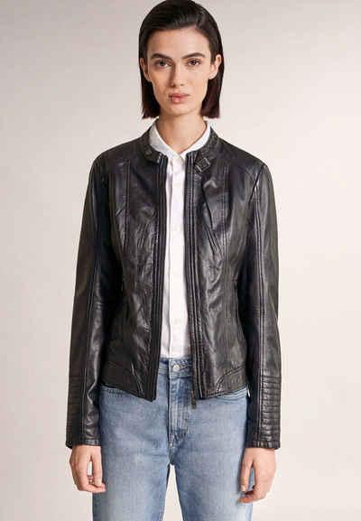 Salsa Blouson »MANHATTAN« leather, Jacke, regular, Unifarben
