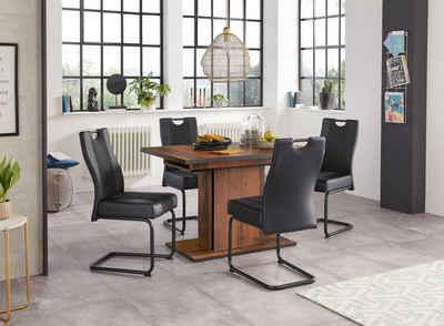 HELA Essgruppe, (Set, 5-tlg), bestehend aus 4x Erika Stuhl & 1x Ariana Tisch ausziehbar durch innenliegende Einlegeplatten 120-160 cm
