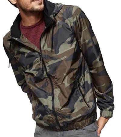 John Devin Collegejacke »john devin Collegejacke coole Herren Freizeit-Jacke Regen-Jacke im Camouflage Look Grün«
