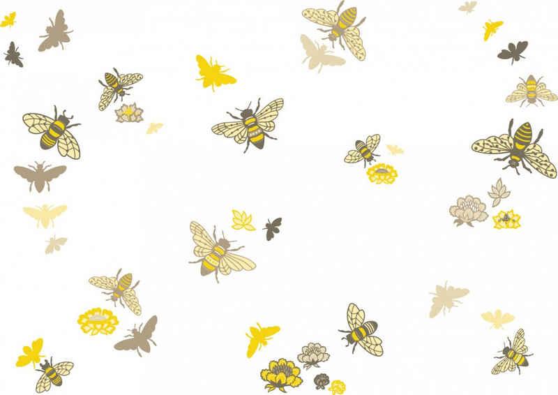 anna wand Wandsticker »Bienen - Bee at home - beige/gelb - selbstklebend«