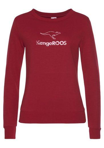 KangaROOS Sweatshirt mit Kontrastfarbenem Logodruck