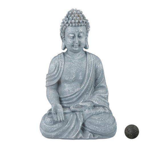 relaxdays Buddhafigur »Buddha Figur sitzend 18cm«
