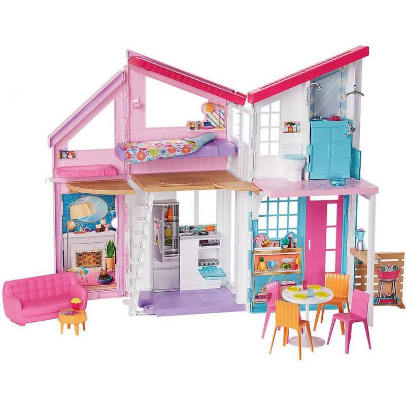 Mattel® Puppenhaus »Barbie Malibu Haus, Puppenhaus, Barbie Stadthaus«