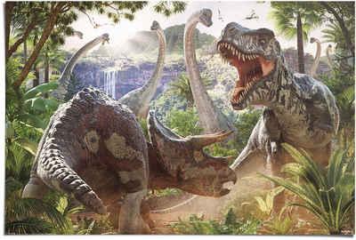 Reinders! Poster »Poster Kampf der Dinosaurier«, Dinosaurier (1 Stück)
