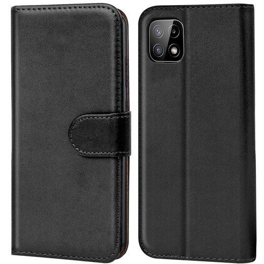 CoolGadget Handyhülle »Book Case Handy Tasche« für Samsung Galaxy A22 5G 6,6 Zoll, Hülle Klapphülle Flip Cover für Samsung A22 5G Schutzhülle