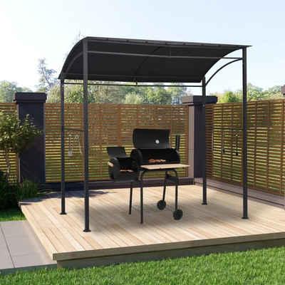 vidaXL Grillpavillon »vidaXL BBQ-Pavillon 215x150x220 cm Anthrazit Stahl«