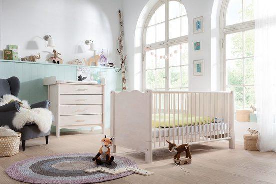 BioKinder - Das gesunde Kinderzimmer Wickelkommode »Feli«, Kommode mit Wickelaufsatz mit 4 Schubladen