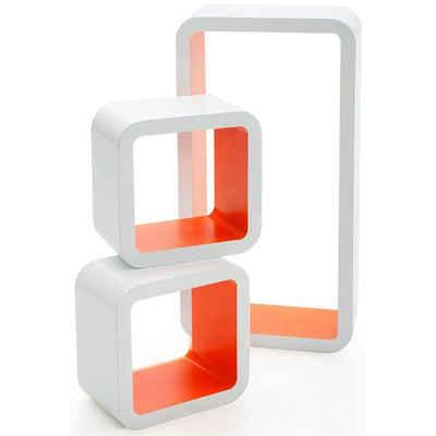 Kubus Wandregal »Brighton«, 3-teilig, Cube Regal