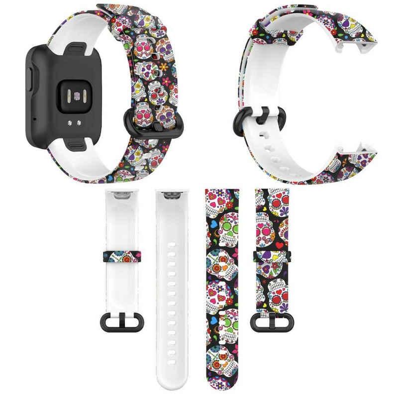 Wigento Für Xiaomi Mi Watch Lite / Redmi Watch Kunststoff / Silikon Armband Muster 9 Uhr Neu Fitnessband