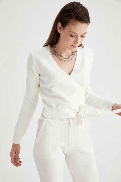 DeFacto Strickpullover »DeFacto Damen Pullover REGULAR FIT CREW NECK«