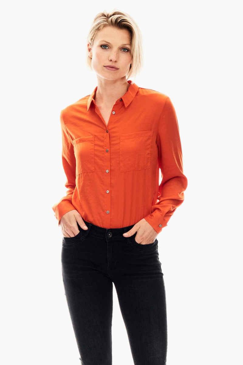 Garcia Klassische Bluse »GS000831« mit Brusttaschen