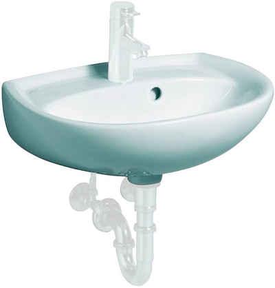 GEBERIT Waschbecken »Renova Nr. 1«, asymmetrisch, mit Hahnloch, mit Überlauf, weiß