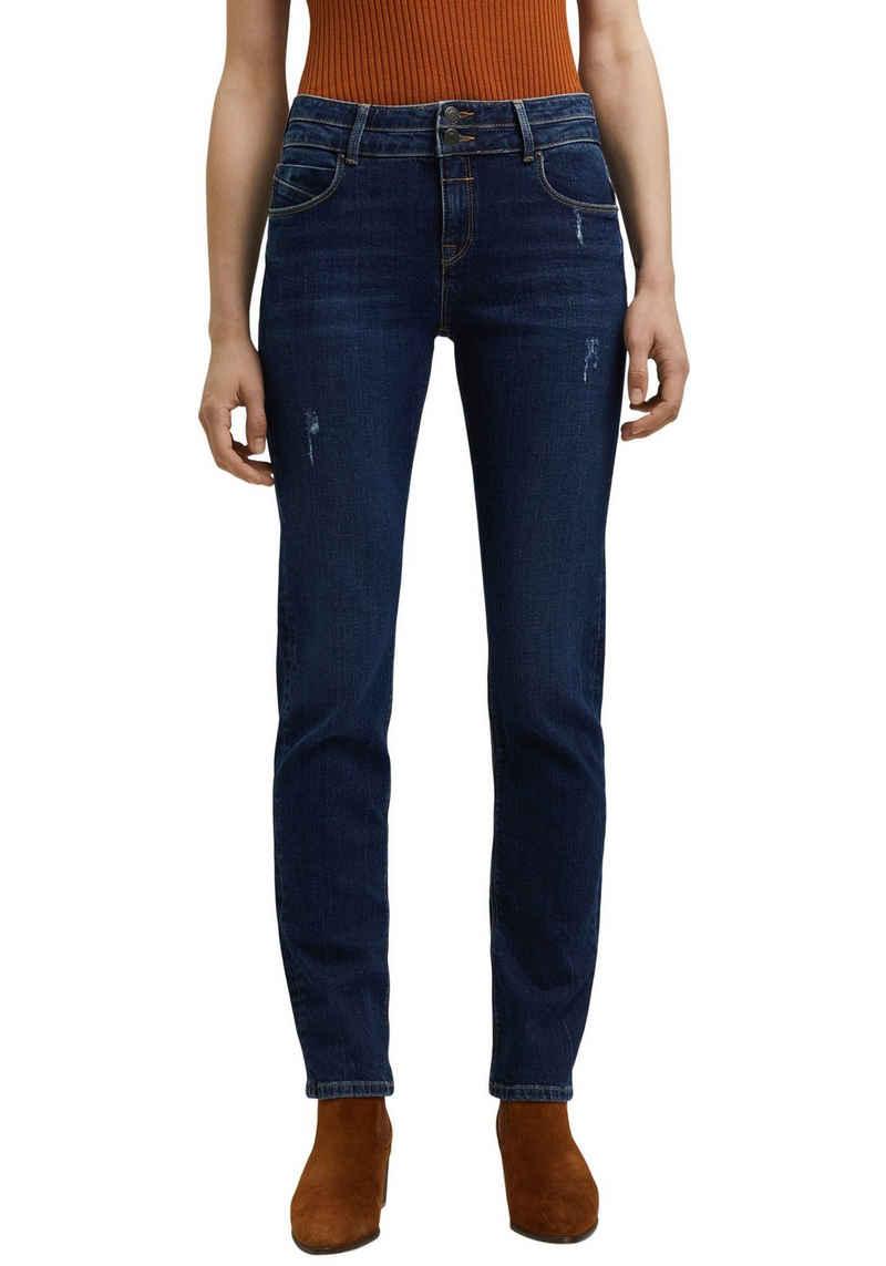 Esprit Straight-Jeans mit Destroyed-Effekt