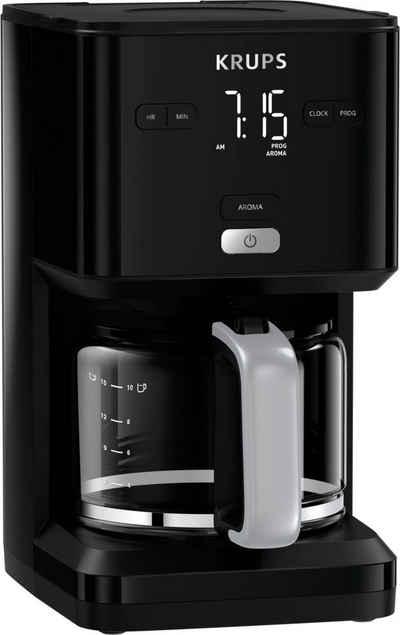 Krups Filterkaffeemaschine Smart'n Light KM6008, 1,25l Kaffeekanne, 24-Stunden-Timer; Automatische Abschaltung; Digital-Display