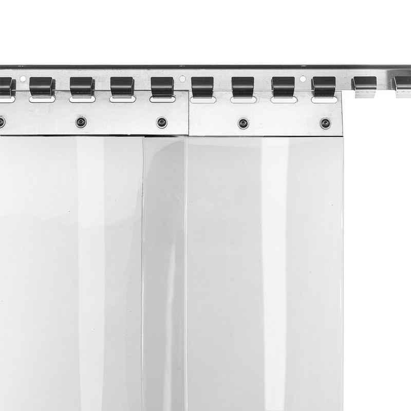Lamellenvorhang nach Maß »PVC-Lamellenvorhang 20cm Br 1,0m Br. 1,50m H.«, HaGa, PVC-Streifenvorhang lebensmittelecht, kältefest, transparent, Stallvorhang