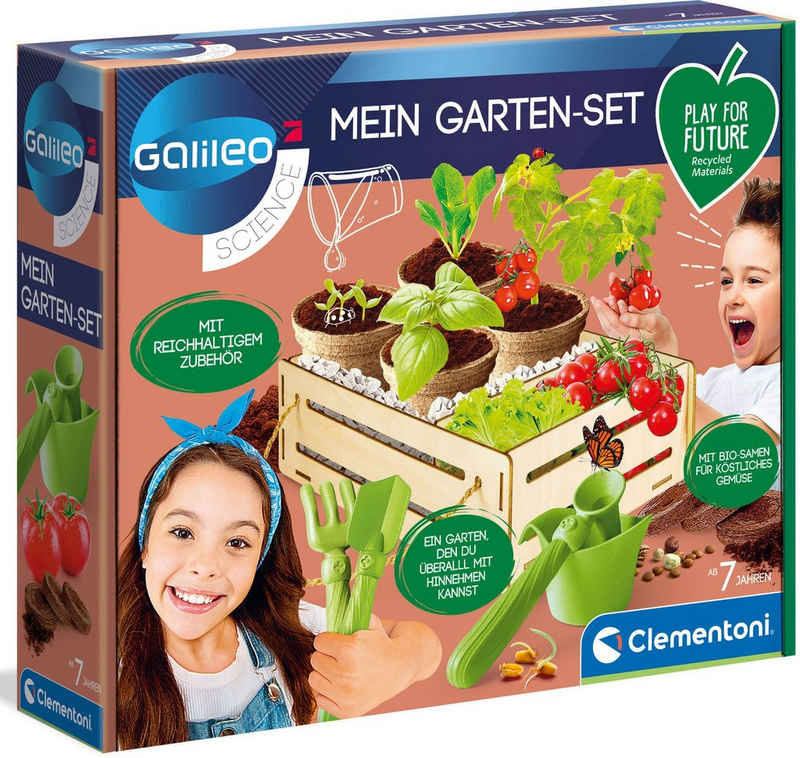 Clementoni® Experimentierkasten »Galileo Mein Garten-Set«, Made in Europe