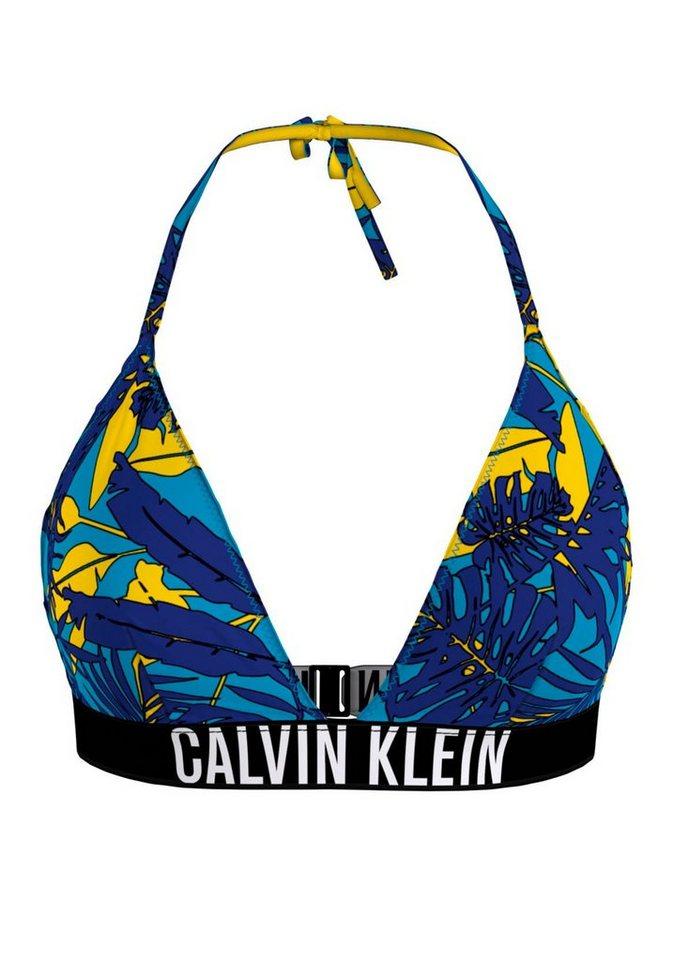 Bademode - Calvin Klein Triangel Bikini Top, mit Tropical Print ›  - Onlineshop OTTO