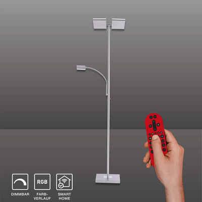 SellTec LED Deckenfluter »Ruben RGB«, Fluter schwenkbar + dimmbar, Smart Home