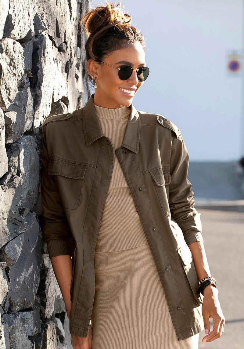 LASCANA Military-Jacke aus Baumwolle