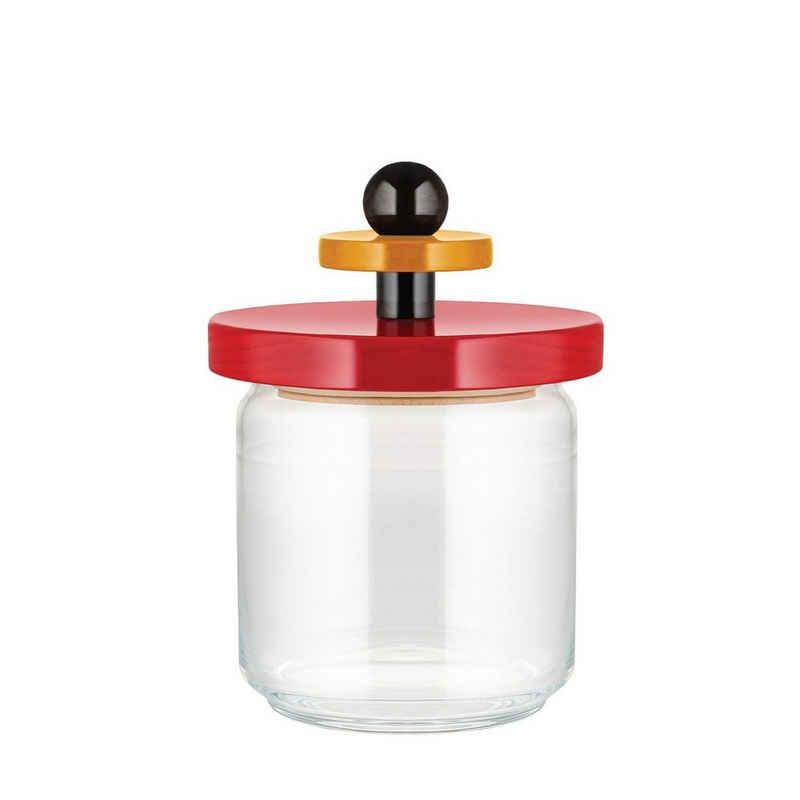 Alessi Aufbewahrungsbox »Aufbewahrungsglas TWERGI 0.75 l«, Glas, Buchenholz, Silikon