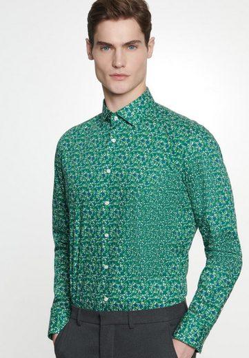 Schlussverkauf seidensticker Businesshemd »Shaped« Shaped Langarm Kentkragen Floral