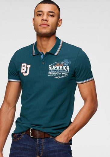 Bruno Banani Poloshirt mit großem Markenprint hinten