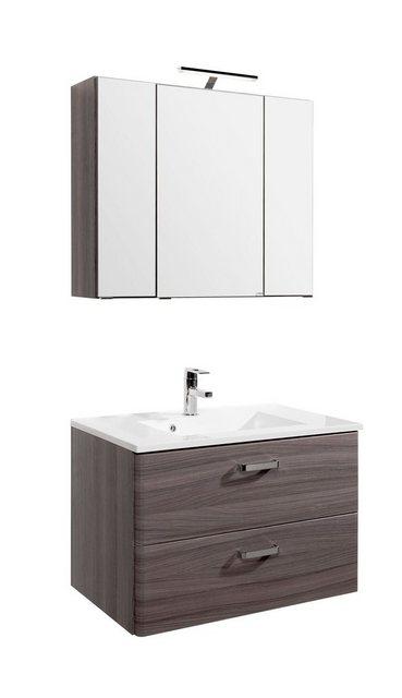 Waschtische - HELD MÖBEL Waschplatz Set »Mailand«, Breite 80 cm, 2 tlg.  - Onlineshop OTTO