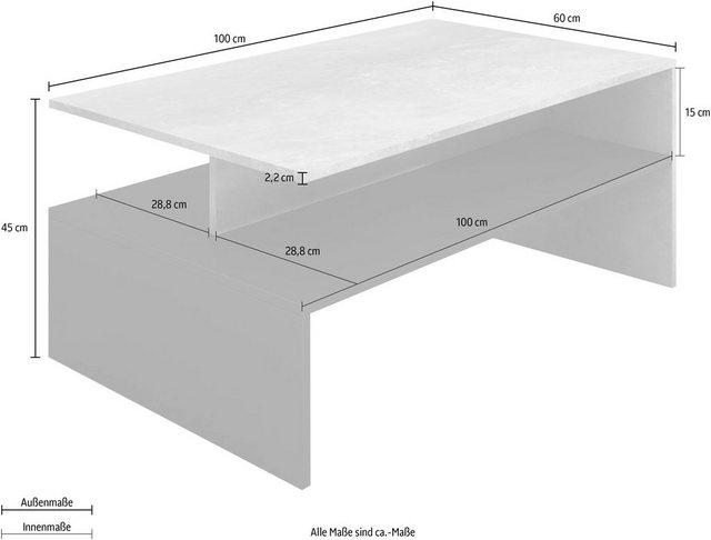 Wohnzimmertische - TRENDMANUFAKTUR Couchtisch, (100 x 60 xm)  - Onlineshop OTTO