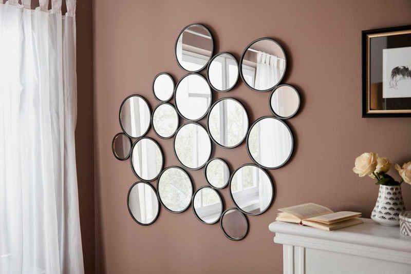 Leonique Dekospiegel »Malisa«, Wanddeko, bestehend aus 19 runden Spiegelementen
