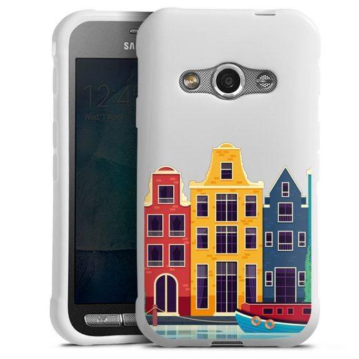 DeinDesign Handyhülle »Amsterdam transparent« Samsung Galaxy Xcover 3, Hülle Stadt transparent Amsterdam