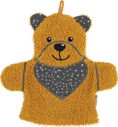 Sterntaler® Waschhandschuh »Baylee« (1-tlg), niedlicher Teddy