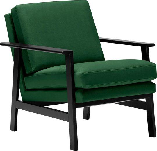 LOVI Sessel »Pepper«, Gestell schwarz aus massiver Buche im Retro Style