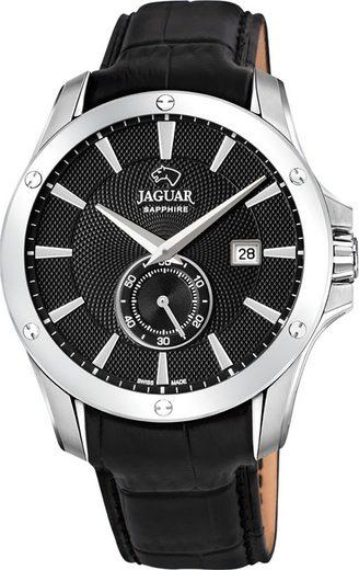 Jaguar Chronograph »UJ878/4 Jaguar Herren Armbanduhr ACM«, (Analoguhr), Herrenuhr rund, groß (ca. 44mm), Edelstahl, Lederarmband, Sport-Style